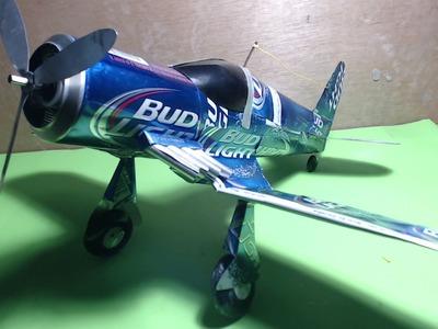 Avión hecho de latas tutorial
