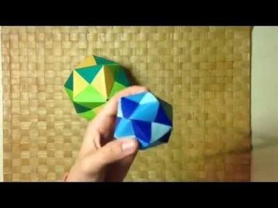 Bola de origami multicolor