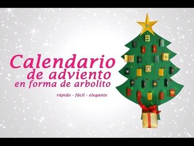 CALENDARIO DE ADVIENTO EN FORMA DE ARBOLITO » Manualidades de Navidad