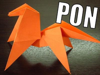 Como hacer un PONY DE PAPEL Super Cool | Origamis de papel paso a paso (Muy fácil)