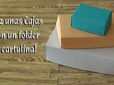 Como hacer unas cajitas con un folder o pedazos de cartulina