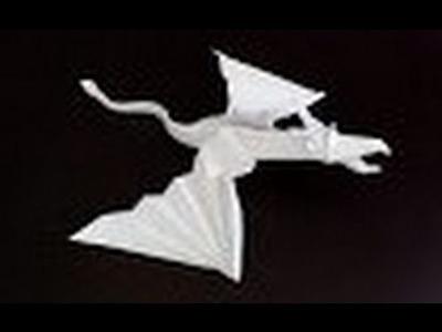 Origami Dragon - Cómo hacer Dragón Volador de origami de papel.Flying Dragon Origami