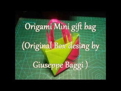 Origami  Mini Gift Bag (Desing by Giuseppe Baggi)