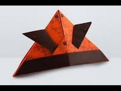 Sombrero de Samurai de papel origami, como hacer sombrero de samurai
