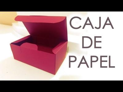 TUTORIAL - COMO HACER UNA CAJA DE PAPEL CON TAPA !!