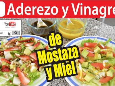 ADEREZO Y VINAGRETA DE MOSTAZA Y MIEL   Vicky Receta Facil