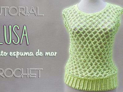 Blusa punto nudo salomon (1 de 3) | Tutorial Crochet paso a paso