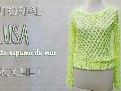 Blusa punto nudo salomón (2 de 3) | Tutorial Crochet paso a paso