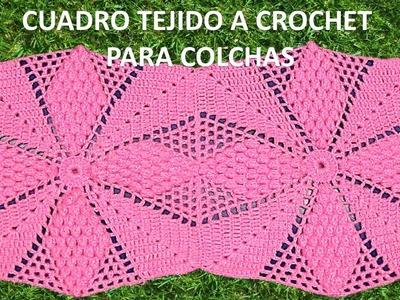 Cuadro tejido a crochet para colchitas de bebe o para camas