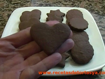 Galletitas de Chocolate - Masitas de Chocolate - Recetas de Tortas YA!
