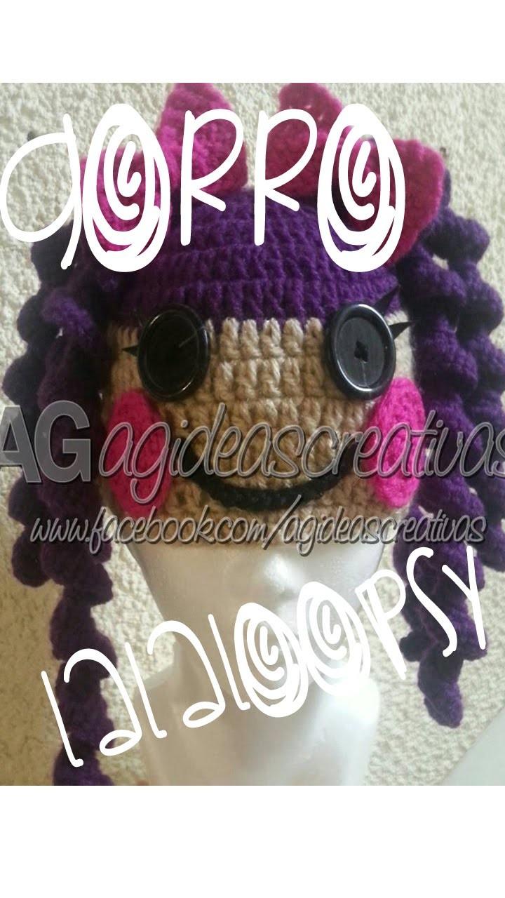 Gorro tejido Lalaloopsy.Crochet Hat Lalaloopsy