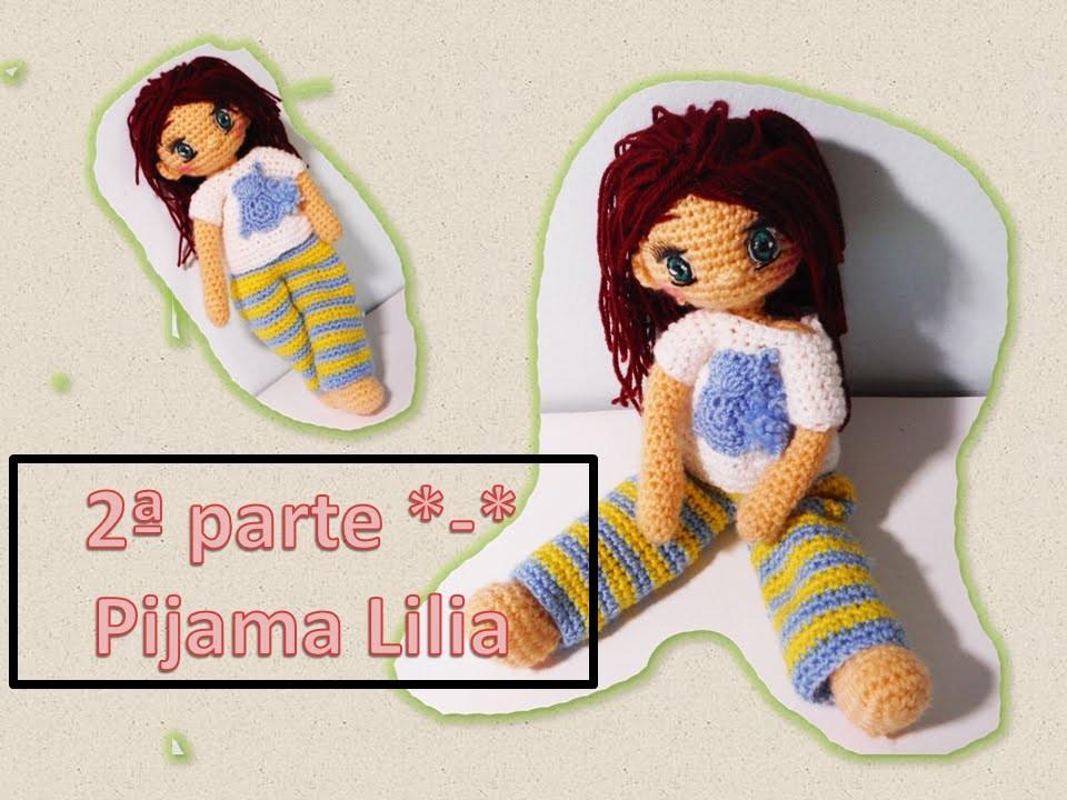 Pijama a crochet para muñecas parte 2 Lilia
