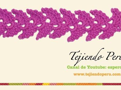Cenefa para aplicar tejida en crochet # 2