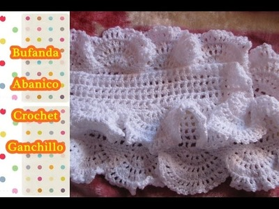Como tejer Bufanda a crochet ganchillo paso a paso (parte 1.2)
