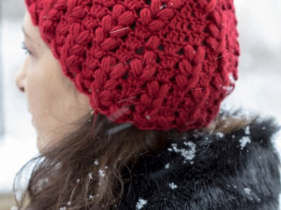 Crochet : Gorro en Punto Esponjoso. Parte 1 de 3