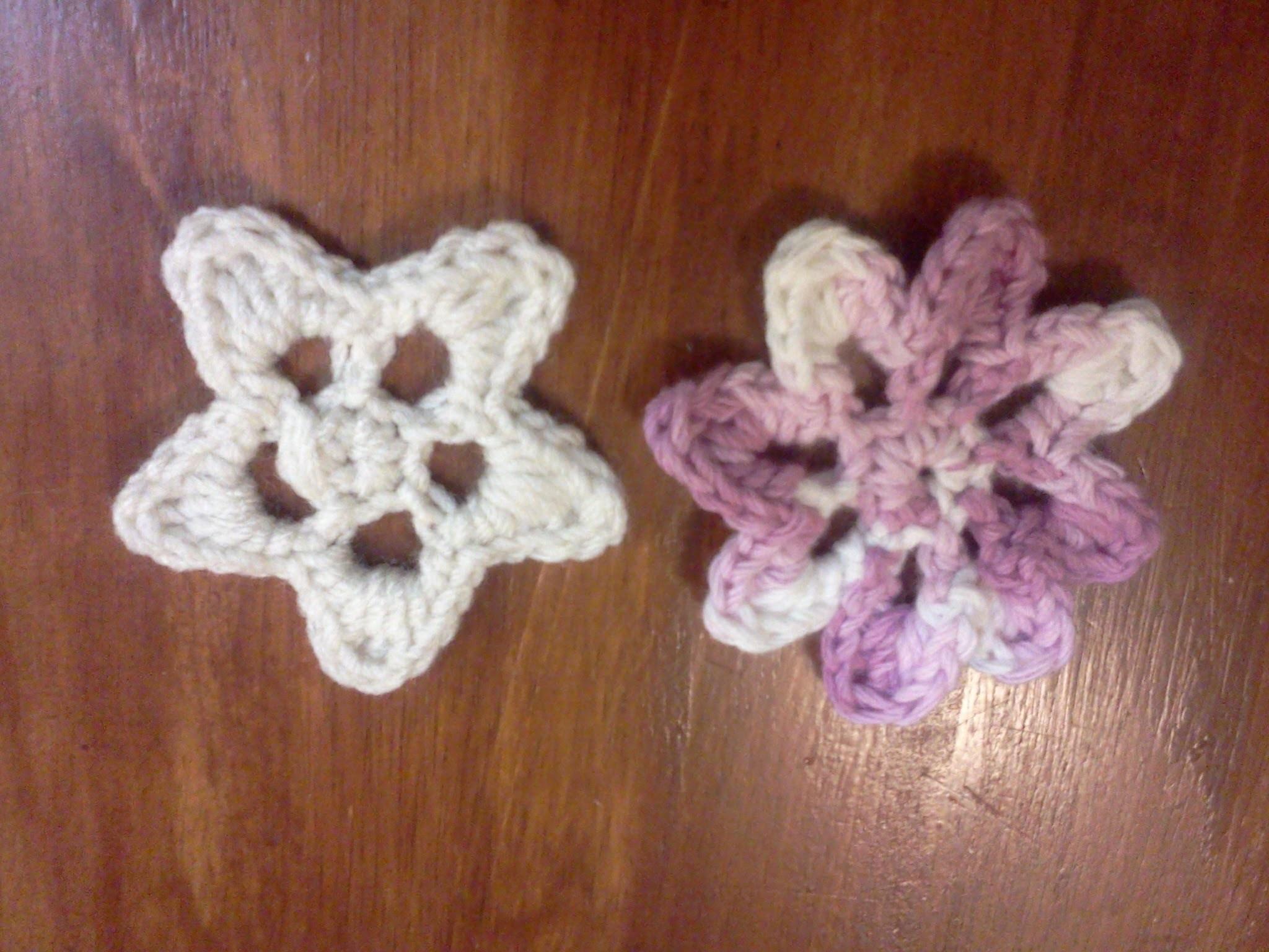 Estrella y Flor (para personas zurdas) - Tutorial de tejido crochet