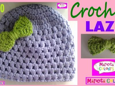 "Lazo a Crochet * Moño * Corbatita ♥♥♥ Michi ""Maricita"" Tutorial Gratis por Maricita Colours"