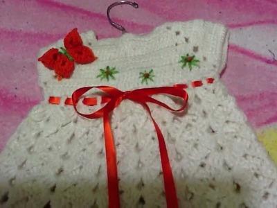 Vestido para bebe en crochet o ganchillo