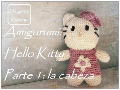 Amigurumi Hello Kitty a crochet parte 1: la cabeza (zurdo)