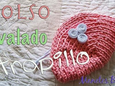 Bolso ovalado de trapillo | Tutorial DIY Crochet XXL