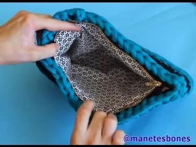 Cómo forrar un bolso de trapillo | Tutorial DIY