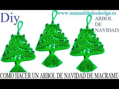 COMO HACER UN ARBOL DE NAVIDAD DE LANA (ESTAMBRE) CON NUDOS DE MACRAME. TUTORIAL DIY