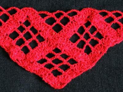 "Crochet : Punto para Chal en ""V"". Parte 2 de 2"