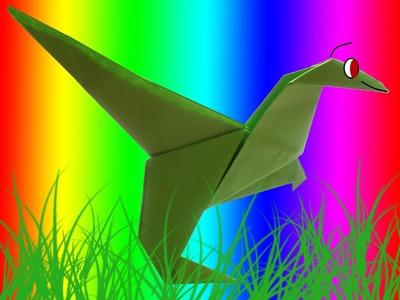 CURSO DE PAPIROFLEXIA gratis 15 Dinosaurio de papel.Tutorial origami dinosaur DIY