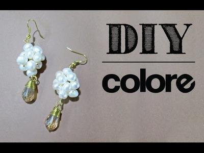 DIY: Aretes Perla y Gota Cristal - Colore Accesorios