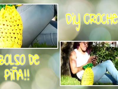 DIY CROCHET: BOLSO DE PIÑA ( PRIMAVERA - VERANO )