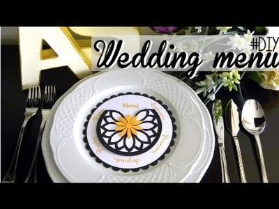 DIY WEDDING: menu wheel - menú giratorio
