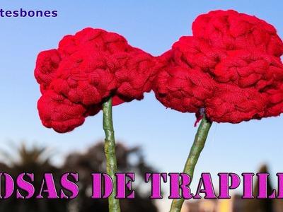 Las rosas son rojas.  y de trapillo :) | Tutorial DIY