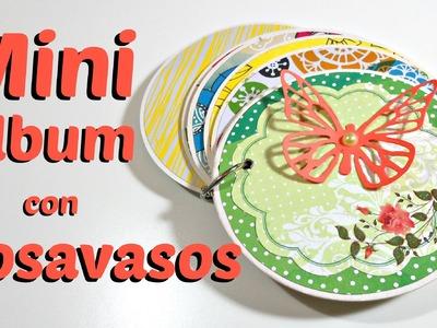 Mini Album con Posavasos| Scrapbook MiniBook | Mundo@Party