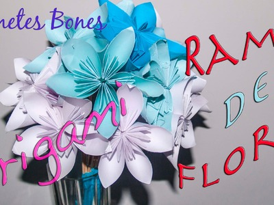 Ramo de flores de papel | Tutorial DIY Origami
