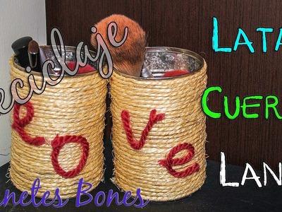 Reciclar latas con cuerda y lana | Tutorial DIY