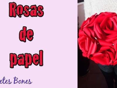 Rosas de papel para San Valentín | Tutorial DIY