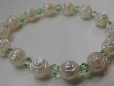Tutorial DIY Pulsera estilo Vintage comunion. How to make bracelet vintage.