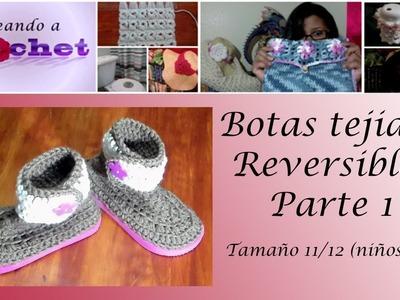 Botas Tejidas Reversibles en Crochet (1ra Parte) - Tamaño11.12