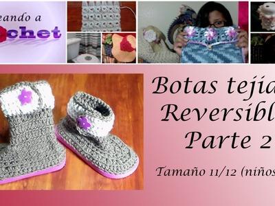 Botas Tejidas Reversibles en Crochet(2da Parte) - Tamaño11.12