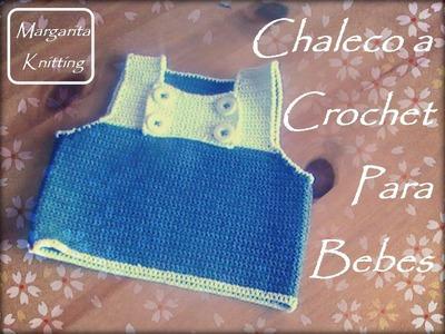 Chaleco a crochet para bebes (diestros)