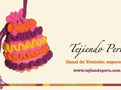 Cómo tejer un bolso a crochet con ondas en relieve (wiggly crochet bag)