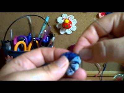 Como adorna el boton de crochet