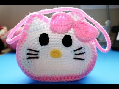 "Como Tejer Bolista en crochet inspirada por ""Hello Kitty"" (Subtitles in English) - Video 2"