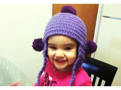 Como tejer gorro en crochet para niña #1gorrito