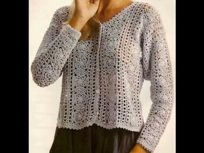 Como Tejer sweater dama con cuadros a crochet PARA EXPERTAS
