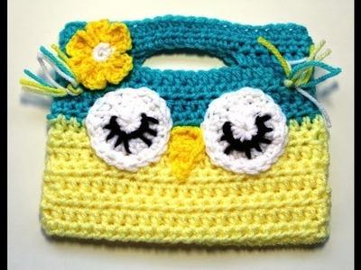 Como tejer una Bolsita de  Buho en Crochet (Video 2 )