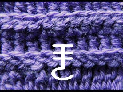 Curso Basico de Crochet : Doble Punto Alto tomado por la parte de atras
