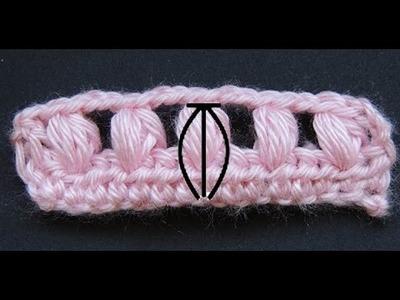 Curso Basico de Crochet : Punto Puff