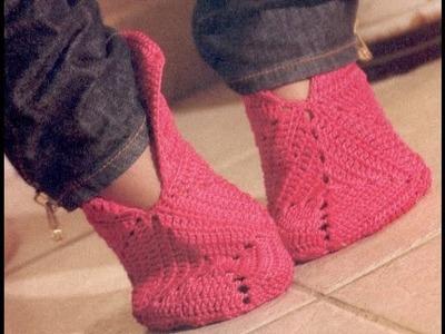 Gráficos para tejer pantuflas a crochet