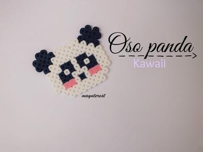 OSO PANDA KAWAII de hama beads (perler beads)